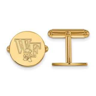 Versil Sterling Silver With Gold Plating LogoArt Wake Forest University Cuff Links