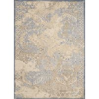 Antique Patina Dulce Light Blue Runner Rug - 2' x 7'2