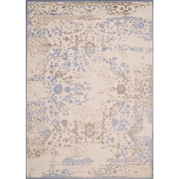 "Antique Patina Alyssa Neutral Runner Rug - 1'11"" X 7' 2"""