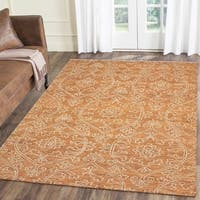 LR Home Karma Rust Wool Poppy Indoor Area Rug ( 9' x 12' ) - 9' x 12'
