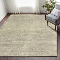 LR Home Dark Grey/White Wool Pin-dot Indoor Area Rug (9' x 12') - 9' x 12'