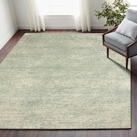 LR Home Pin Dot Blue Wool Aquamarine Area Rug ( 9' x 12' ) - 9' x 12'
