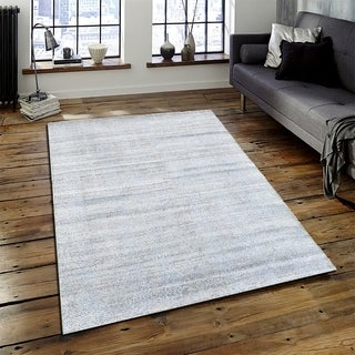 LR Home Sobek Grey/ Blue Indoor Accent Rug (4' x 6')