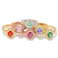 Michael Valitutti 14k Gold Exotic Gemstone and Diamond Ring