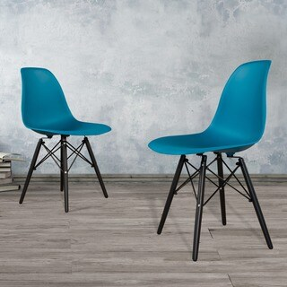 Corvus Winston Dining Chairs with Wood Legs (Set of 2)