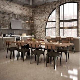 Carbon Loft Kettering Metal Chairs And 84 Inch Table With Leaves Dining Set