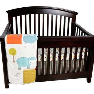 Cotton Tale Scribbles Jungle 3-piece Crib Bedding Set