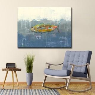 'Tuna in Water' Ready2HangArt Canvas by Dana McMillan