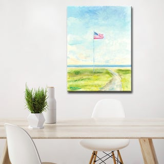 'Meet You at the Flag' Ready2HangArt Canvas by Dana McMillan