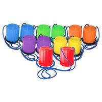Champion Sports Plastic Platform Stilts, Set of 6 colors