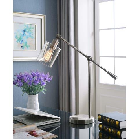 Thomas Brushed Steel Adjustable Desk Lamp