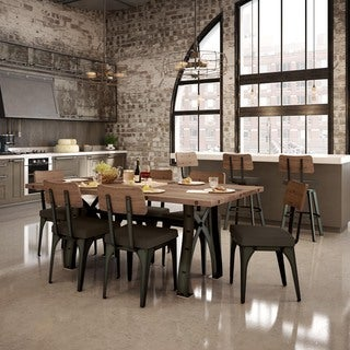 """Amisco Symmetry Metal Chairs and Sierra Table 72"""", Dining Set"""