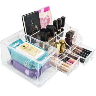 Acrylic X-Large Sectional Makeup Organizer