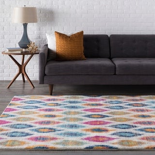 Trocadero Modern Geometric Multi-color Multi Rug (3'11 x 5'7)