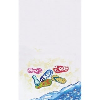 Six Flip Flops Kitchen Towel Set of 2