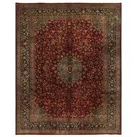 Herat Oriental Persian Hand-knotted Kashmar Wool Rug (9'11 x 12'4)