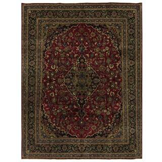 Herat Oriental Persian Hand-knotted Kashmar Wool Rug (9'10 x 13')