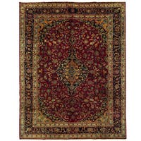 Herat Oriental Persian Hand-knotted Kashmar Wool Rug (9'9 x 12'10)