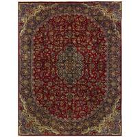 Herat Oriental Persian Hand-knotted Kashmar Wool Rug (9'10 x 13'2)