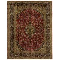 Herat Oriental Persian Hand-knotted Kashmar Wool Rug (9'11 x 12'10)