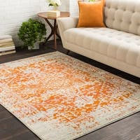 Haute-Hali Persian Distressed Burnt-Orange Area Rug (5'3 x 7'3)