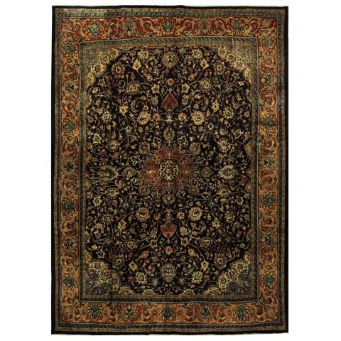Handmade Herat Oriental Persian Mahal Wool Rug - 10'5 x 14'5 (Iran)
