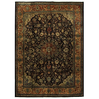 Herat Oriental Persian Hand-knotted Mahal Wool Rug (10'5 x 14'5)