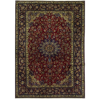 Herat Oriental Persian Hand-knotted Isfahan Wool Rug (10'3 x 14'5)