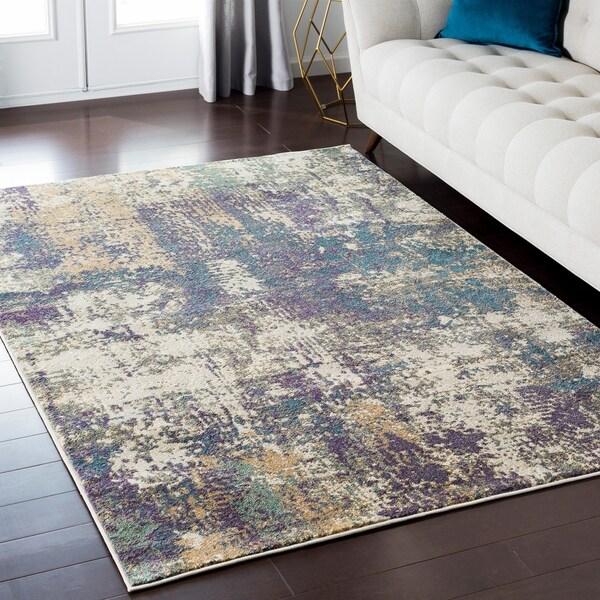 Shop Luxurious Luxe Modern Watercolor Grey Purple Multi