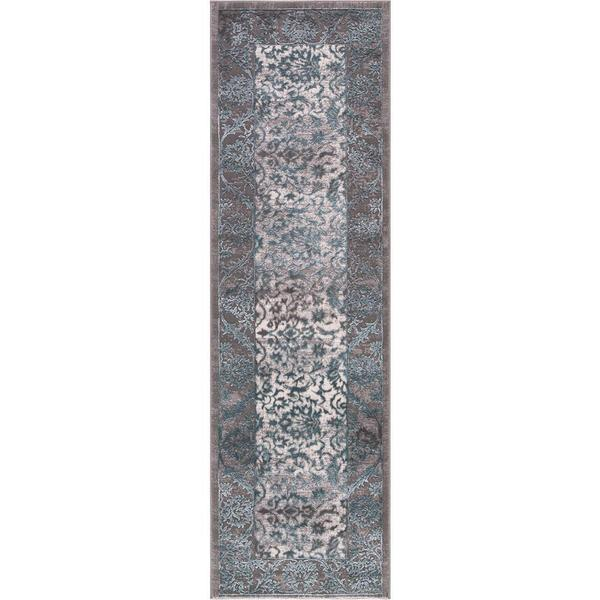 """Concord Global Thema Finesse Blue Rug (2'3""""x7'3"""") - 2'3"""" x 7'3"""""""