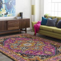 The Curated Nomad Holyoke Persian Oriental Purple Area Rug - 5'3 x 7'3