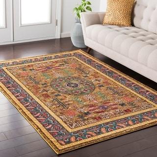 Haute-Hali Persian Boho Saffron Rug (5'3 x 7'3)