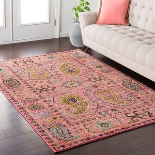 """Colony House Vintage Oriental Pink Rug-(5'3"""" x 7'3"""")"""