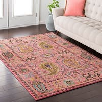 Colony House Vintage Oriental Pink Area Rug (5'3 x 7'3)
