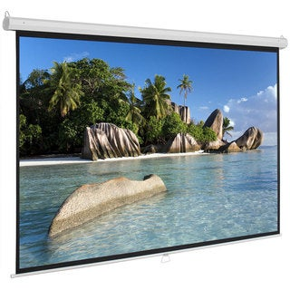 """100"""" 16:9 87"""" x 49"""" Viewing Area Manual Projector Screen Matte White"""