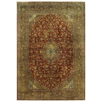 Herat Oriental Persian Hand-knotted Kashan Wool Rug (10' x 14'6)