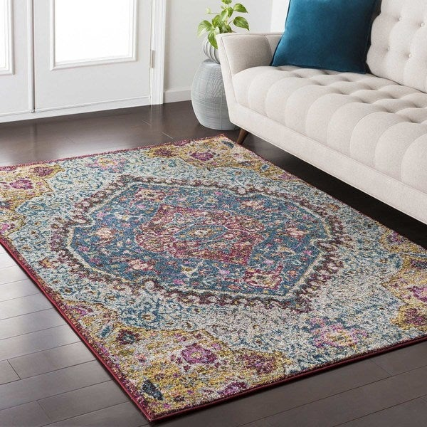 Shop Amelia Persian Traditional Oriental Blue Purple Area Rug 53