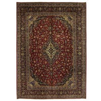 Herat Oriental Persian Hand-knotted Kashan Wool Rug (10'1 x 14'1)