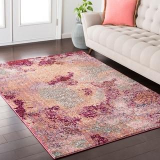 "Trocadero Boho Abstract Pink/Purple Rug-(5'3"" x 7'3"")"