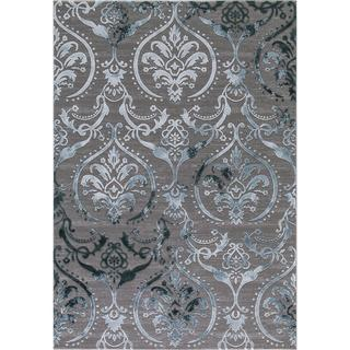 "Concord Global Thema Brocade Blue Area Rug - 6'7"" x 9'3"""