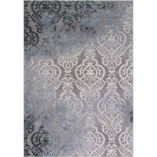 Motif Collection Appliques Grey/Ivory Rug ( 5'3 x 7'3)
