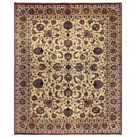 Herat Oriental Persian Hand-knotted Mashad Wool Rug (9'11 x 12'6)