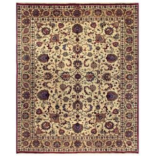 Herat Oriental Persian Hand-knotted Mashad Wool Rug (9'11 x 12'6)