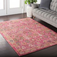 Colony House Vintage Oriental Pastel-Pink Area Rug (5'3 x 7'6)