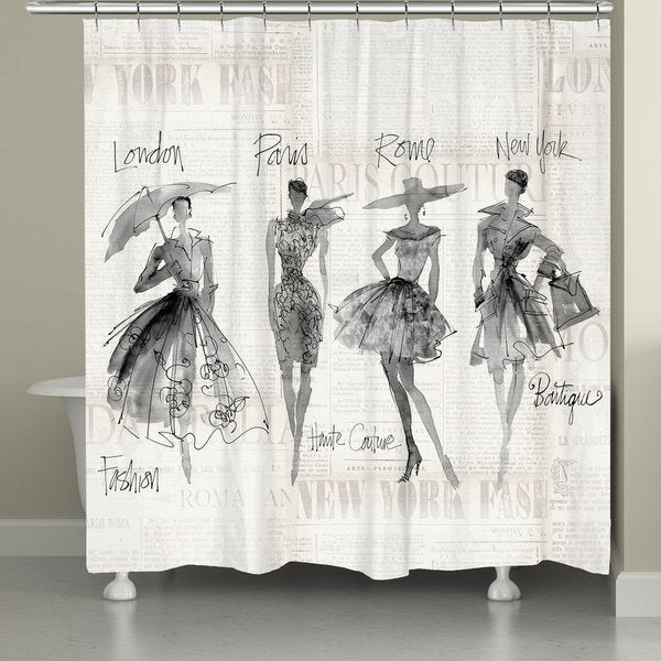 Shop Laural Home Fashion Divas Shower Curtain