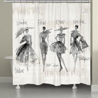 Laural Home Fashion Divas Shower Curtain