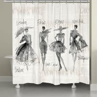 Laural Home Fashion Divas Shower Curtain