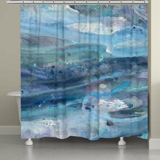 Laural Home Blue Waves Shower Curtain