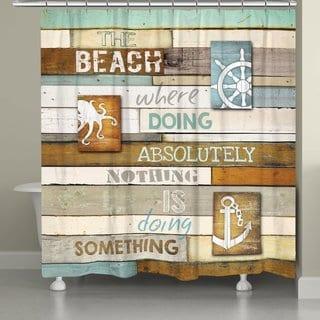 Laural Home Beach Words Shower Curtain