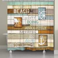 Laural Home Beach Words Shower Curtain